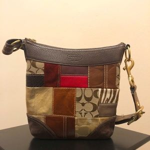 Coach Holiday patchwork mini duffle